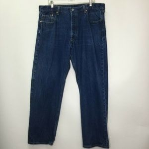 Levi 501XX 42 34 Blue Mens Denim Jeans Straight
